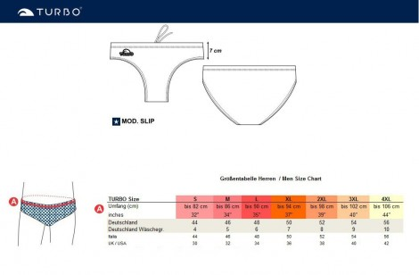 TURBO Waterpolo Badehose TRAIL MASK – Bild 5