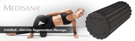 Medisana SolidRoll Massagerolle Muskel Regeneration mit Trainingsplan